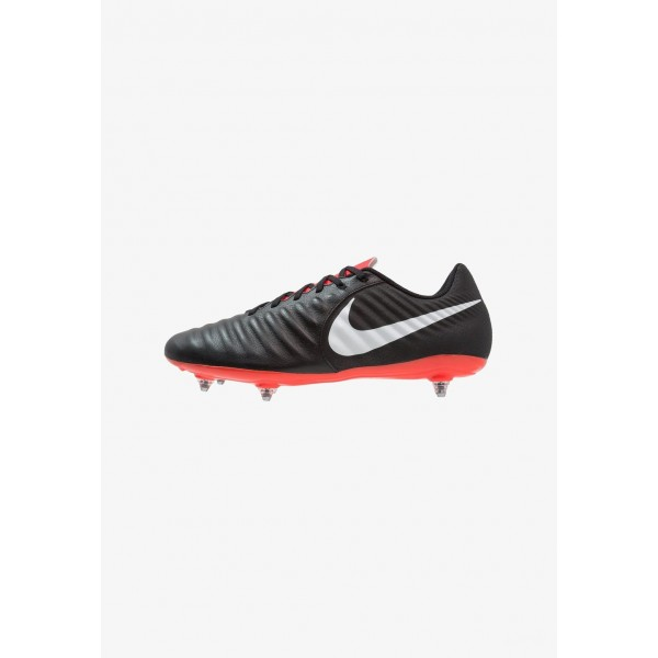 Nike LEGEND 7 ACADEMY SG - Chaussures de foot à lamelles black/pure platinum/light crimson liquidation