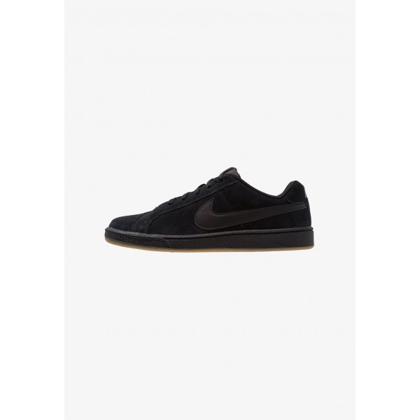 Nike COURT ROYALE SUEDE - Baskets basses black/light brown liquidation