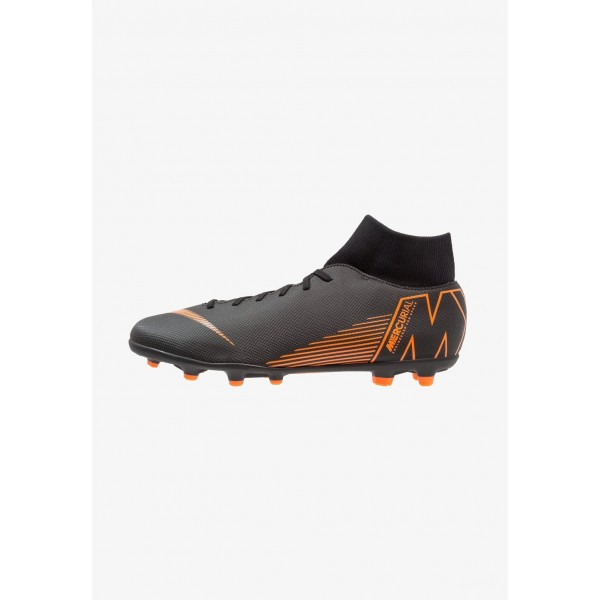 Cadeaux De Noël 2019 Nike MERCURIAL 6 CLUB MG - Chaussures de foot à crampons black/total orange/white liquidation