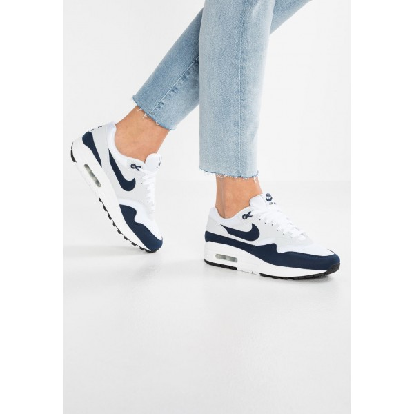 Black Friday 2020 | Nike AIR MAX 1 - Baskets basses white/obsidian/pure platinum liquidation
