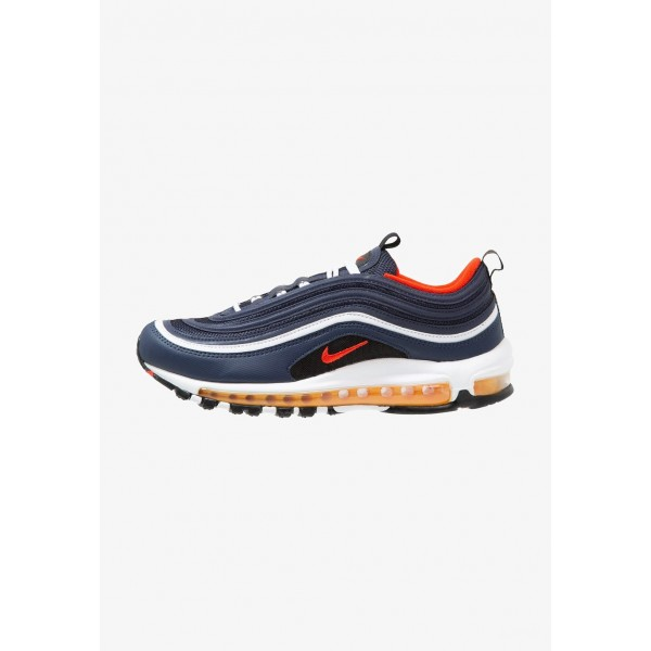Nike AIR MAX 97 - Baskets basses midnight navy/habanero red/black/white/laser orange liquidation
