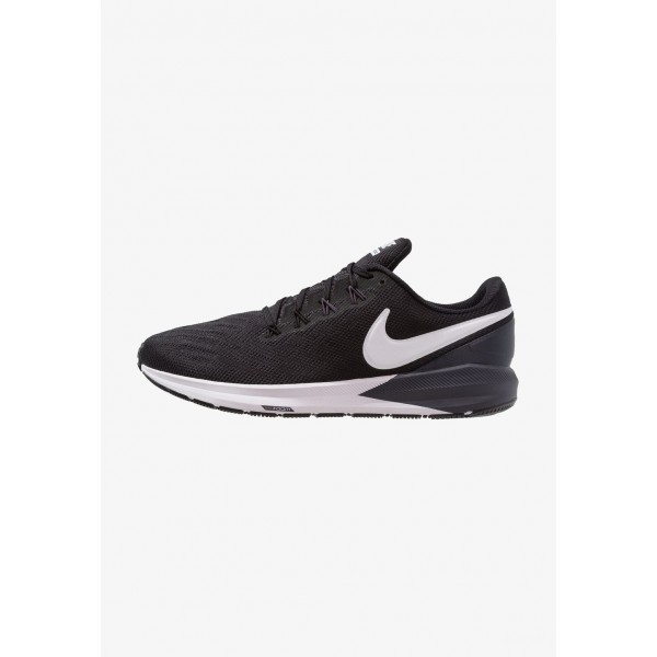 Black Friday 2021 Nike AIR ZOOM STRUCTURE  - Chaussures de running stables black/white/gridiron liquidation