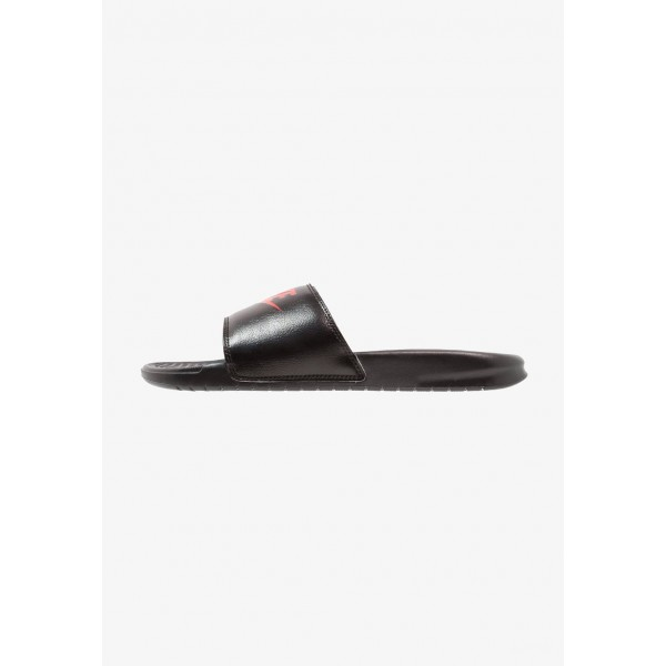 Nike BENASSI JDI - Sandales de bain black/game red/white liquidation