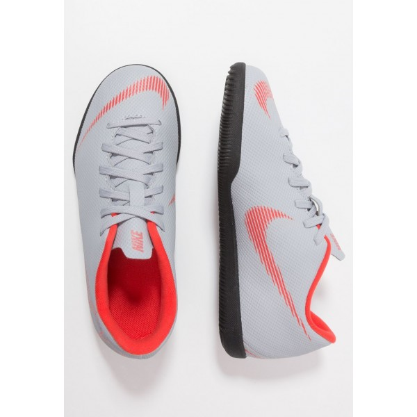 Nike MERCURIAL VAPORX 12 CLUB IC - Chaussures de foot en salle wolf grey/light crimson/black liquidation