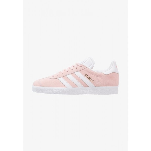 Adidas GAZELLE - Baskets basses vapour pink/white/gold metallic pas cher