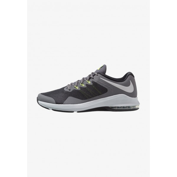 Black Friday 2020 | Nike AIR MAX ALPHA TRAINER - Chaussures d'entraînement et de fitness dark grey/metallic silver/cool grey/wolf grey/black/volt liquidation