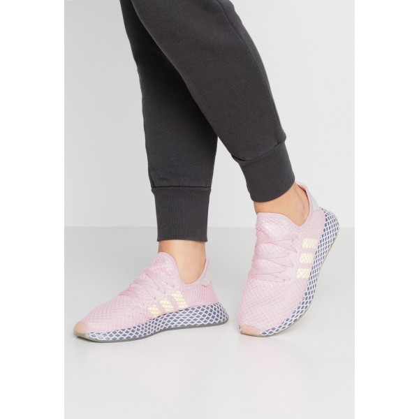 Adidas DEERUPT RUNNER  - Baskets basses - clear pink/hi clear pink/hi-res yellow/raw steel  pas cher